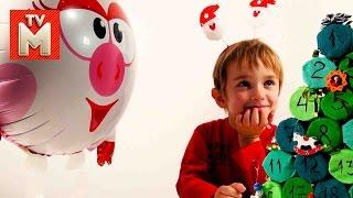 ДАВИД и СМЕШАРИК НЮША Распаковка ёлки с сюрпризами ВИДЕО ДЛЯ ДЕТЕЙ Новогодние сюрпризы подарки(Привет, Друзья! Смотрите новое развлекательное видео для детей