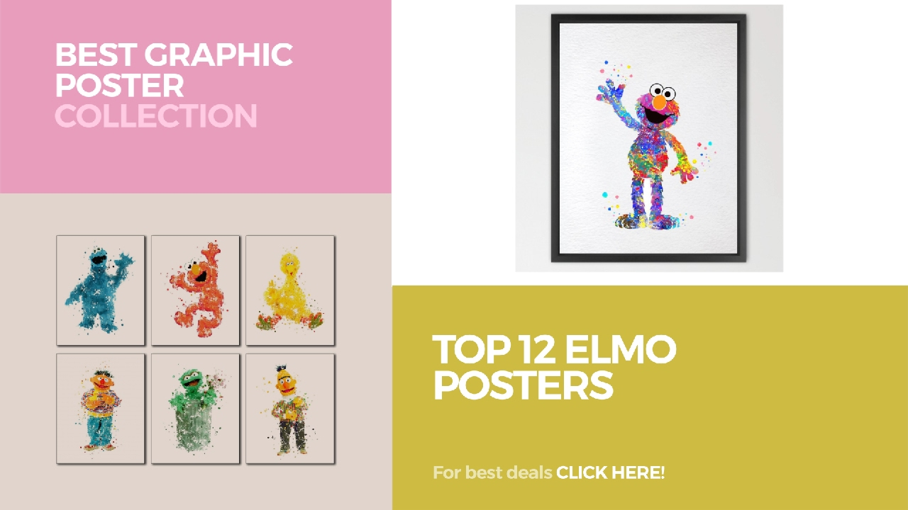 Top 12 Elmo Posters // Best Graphic Poster Collection - YouTube