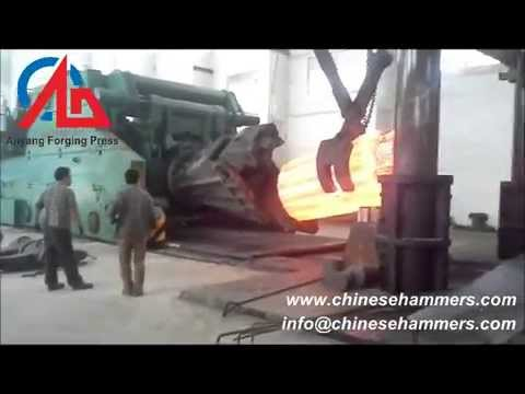 forging steel with 5000 ton hydraulic metal forming machine
