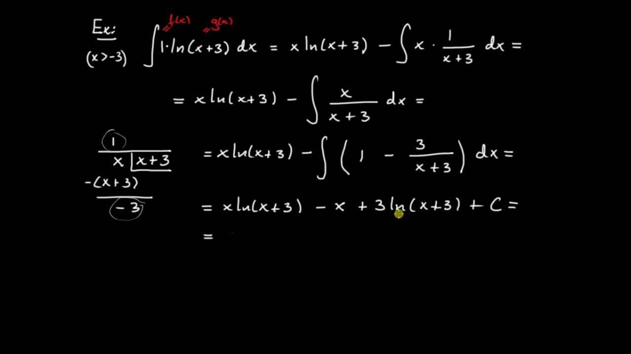 Primitiva funktioner del 12 - primitiv till logaritm