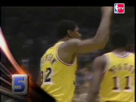 Top 10 Magic Johnson playoffs career YouTube
