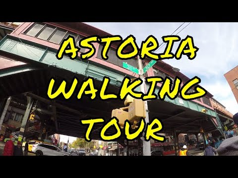 Walking Tour of Astoria, Queens, NYC - 31st St to Northern Blvd via 30th Ave and Steinway St
