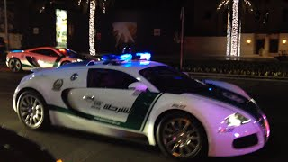 Crazy Dubai Police Supercars Fleet Bugatti & More