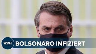 Covid-19-positiv: Brasilianischer Präsident Bolsonaro Mit Coronavirus Infiziert