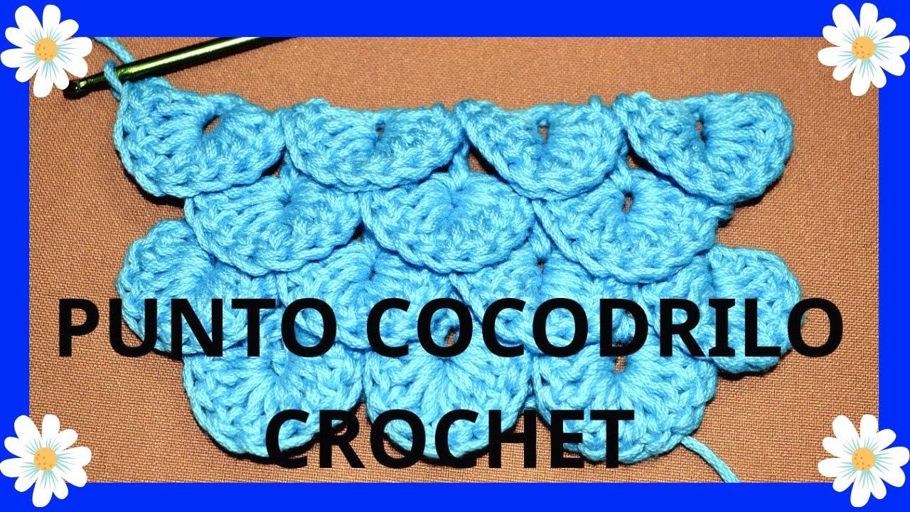 Como tejer el Punto #cocodrilo o ESCAMA en tejido Crochet o ...