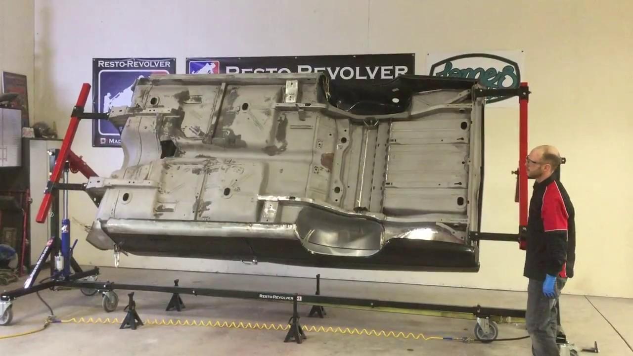 World S Fastest Resto Revolver Automotive Rotisserie Setup