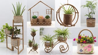 12 Best Out Of Waste Material Ideas for Plant Pots | Jute Craft Ideas