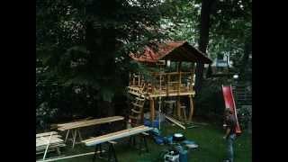 Houtwerken - Spielgeräte baut Ihr Baumhaus oder das Spielhaus Teil-01