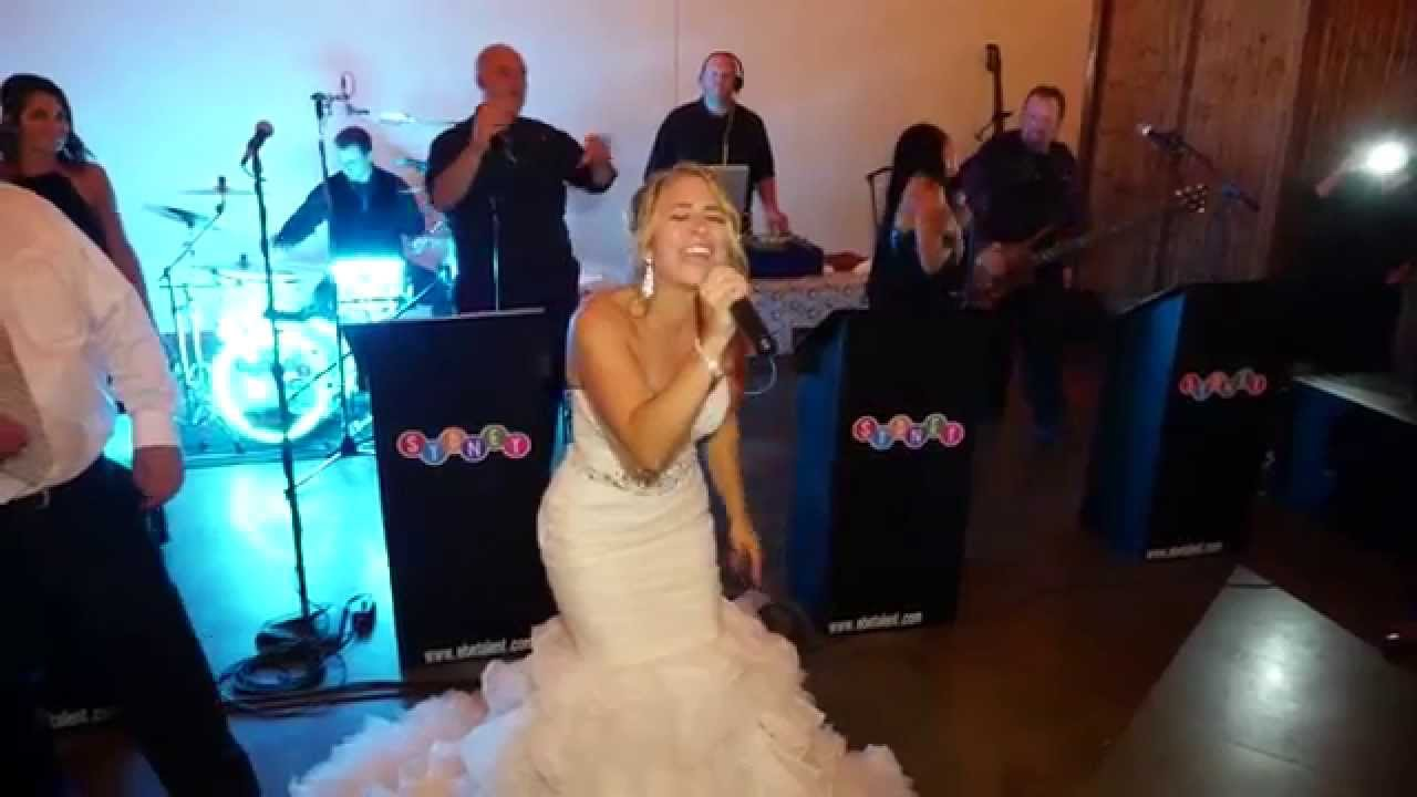 The Bride Sings Don T Stop Believing At Her Own Wedding By Just Joey Productions You