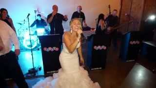 The bride sings Don
