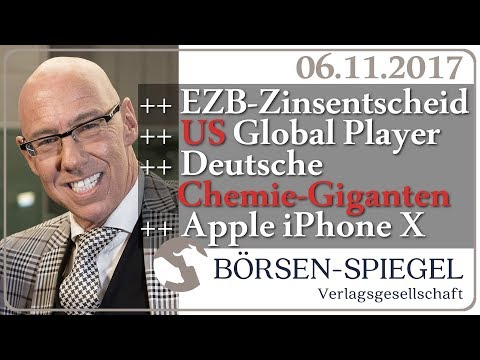 EZB-Zinsentscheid | US Global Player | Deutsche Chemie-Giganten | Apple | Mick Knauff