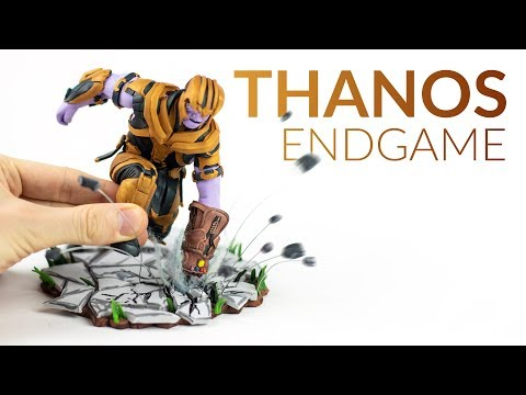 Making THANOS with Clay (Avengers & Fortnite ENDGAME) – Polymer Clay thumbnail