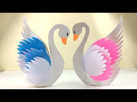 Swan DIY | Swan Craft | Paper Crafts For School | Paper Craft Swan | Paper Crafts For Kids