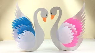Swan DIY | Swan Craft | Paper Crafts For School | Paper Craft Swan | Paper Crafts For Kids