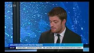 US Democratic spokesmen Taylor Smoot on CT24 (Czech CNN)