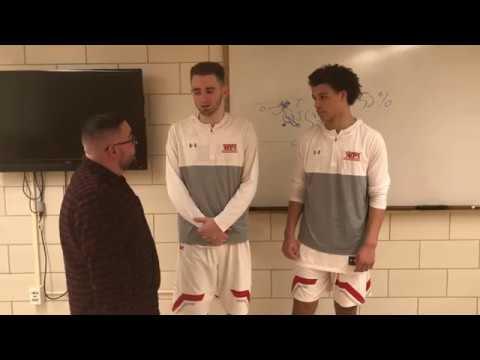 WPI Men's Basketball Post-Game Interview - Dakota Wheeler and Reid Walker