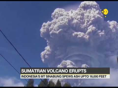 Indonesia's Mount Sinabung spews thick volcanic ash into the air