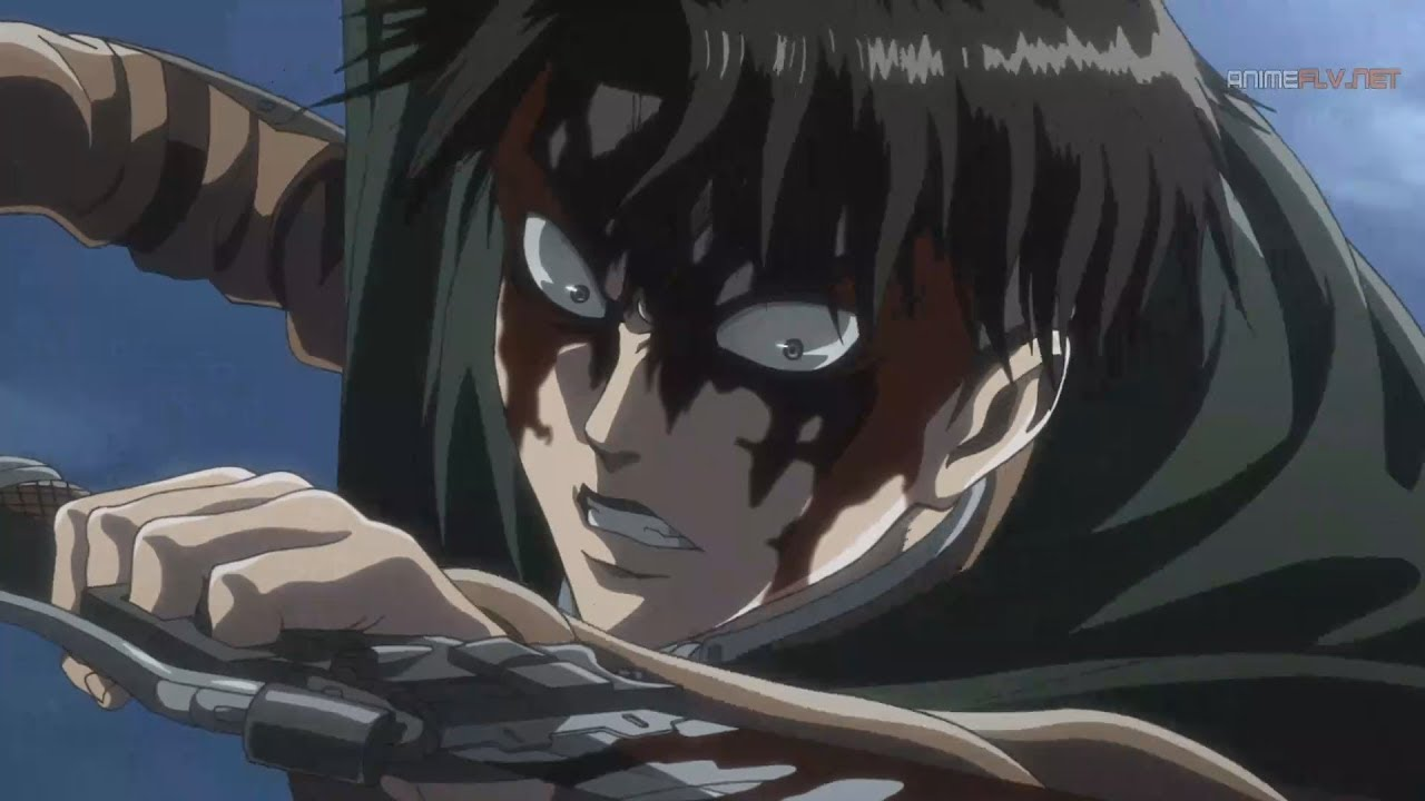 Levi Vs Titan Bestia Shingeki No Kyojin Temporada 3 Youtube