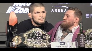 Khabib Nurmagomedov Smacks Down Journalist After Muslim Salutation  (UFC 229)