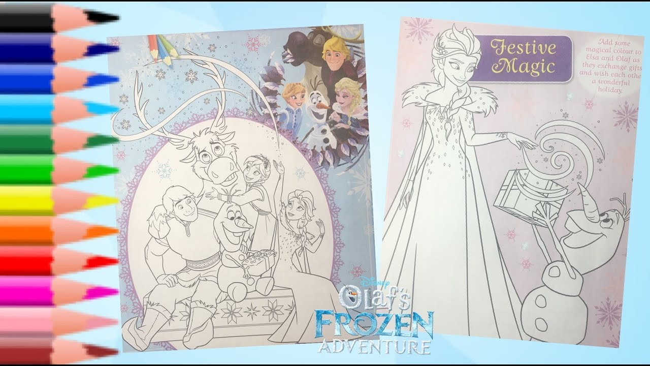 Coloring Pages Olaf S Frozen Adventure Family Tradition