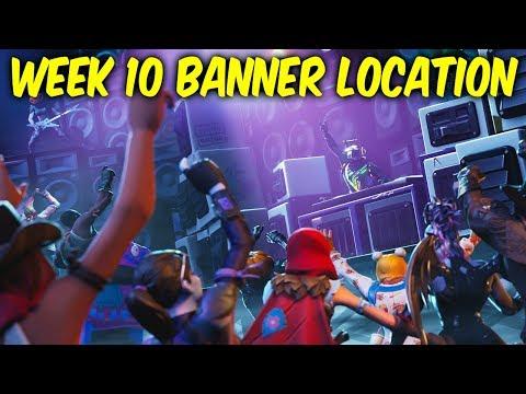 Fortnite Week 10 Battlestar Location.Week 10 Banner Location - SEASON 6
