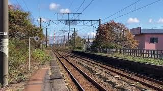 261系特急北斗8号 DF200REDBEAR 糸井駅高速通過