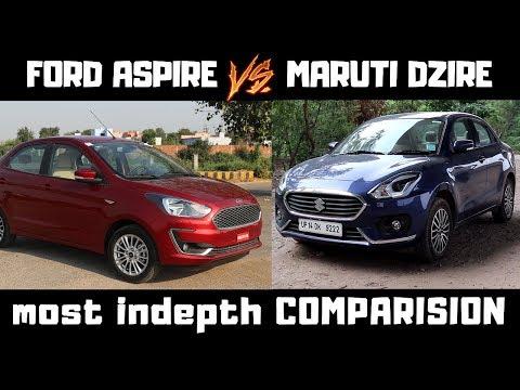 Ford ASPIRE vs Maruti Suzuki DZIRE : deepest comparision ever  Aspire 2018