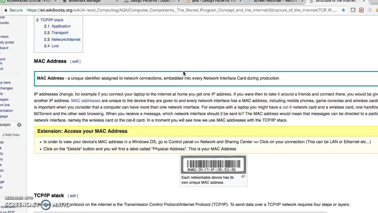 TCP / IP protocol stack