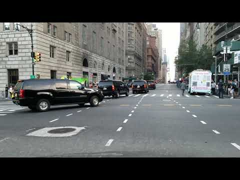 NYPD And United States Secret Service Escort Israeli Prime MInister Benjamin Netanyahu