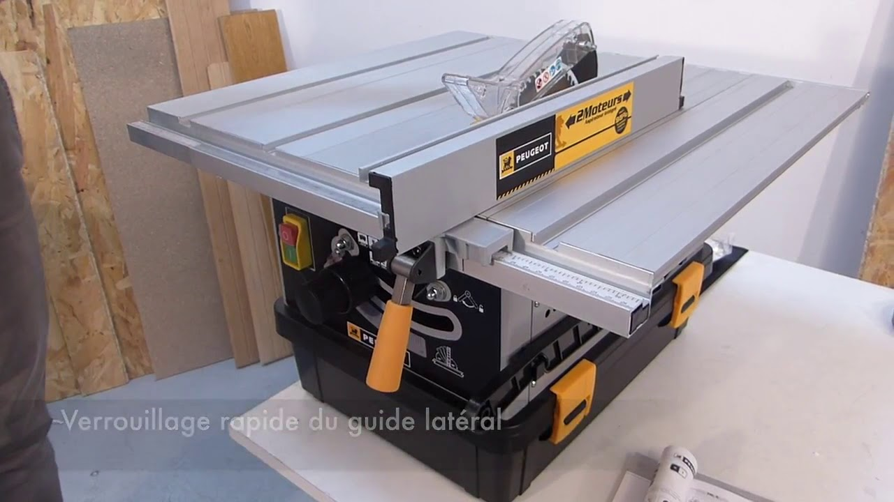 Scie Sur Table Energysaw 165asp Youtube