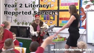 ofsted outstanding year 2 literacy classroom observation topic reported speech