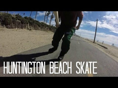 Inline Skating: Cruising at Huntington Beach, CA (No Narration) 60fps
