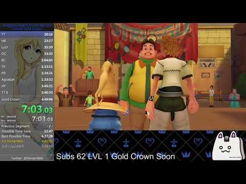 Kingdom Hearts 2.5 (PS4) Critical Gold Crown Speedrun in 4:44:59