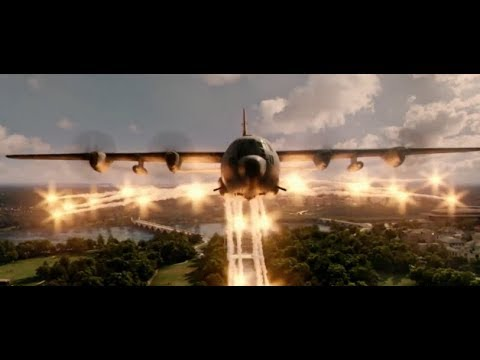Olympus Has Fallen Attack Scene | Airplane Attacks Washingto