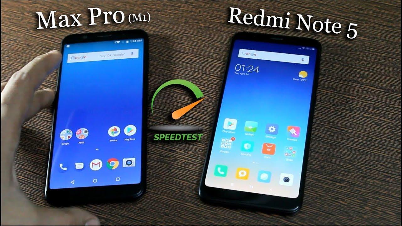 Asus Zenfone Max Pro M1 vs Redmi Note 5 Speed Test (OMG ...