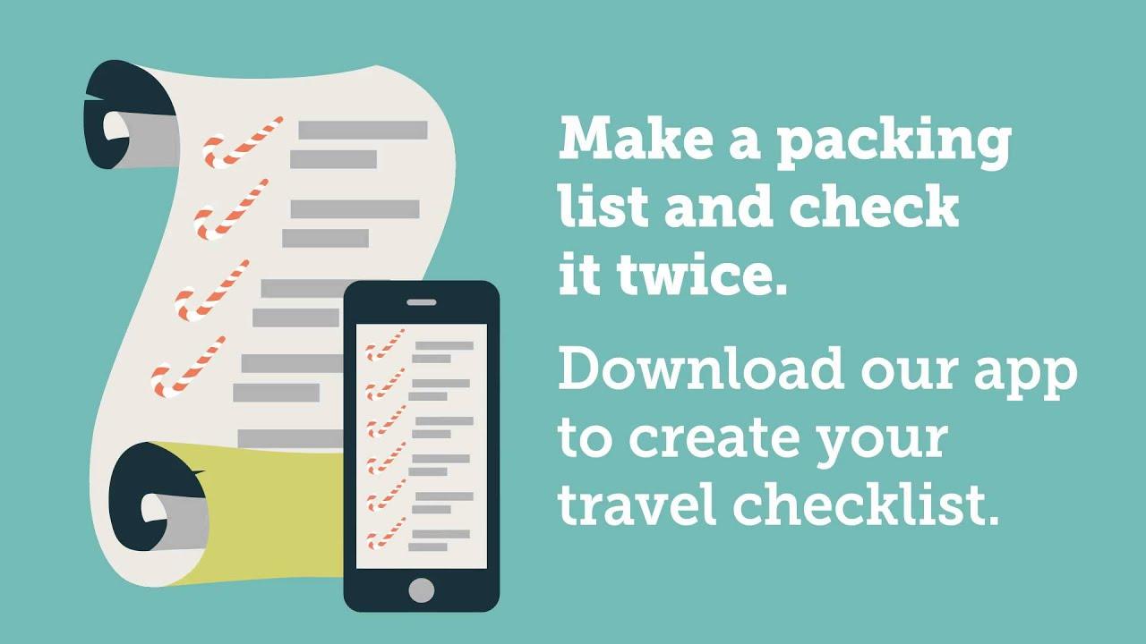 Travel Checklist (on mobile app)