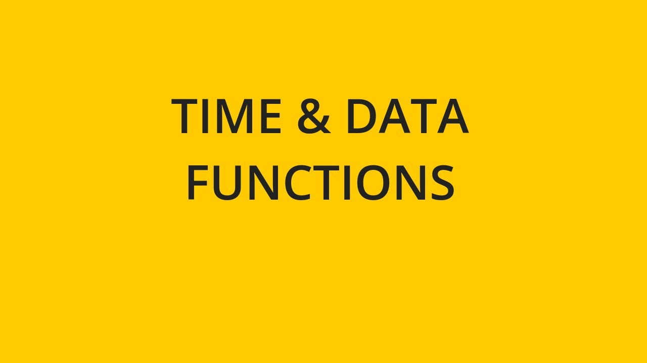Date and Time Functions | Sisense | Documentation