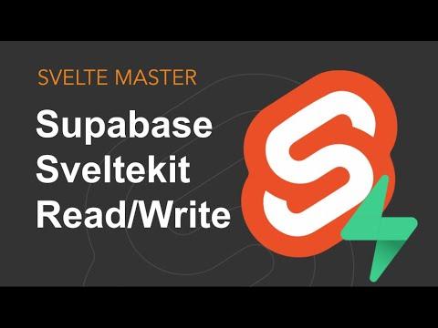 Supabase & Sveltekit - Read/Write (Part 2)