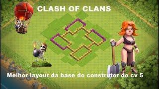CLASH OF CLANS MELHOR LAYOUT DE DEFESA DO CV 5