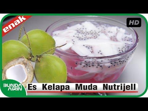 Cara Membuat Es Kelapa Muda Nutrijell Resep Minuman Segar Indonesia - Bunda Airin