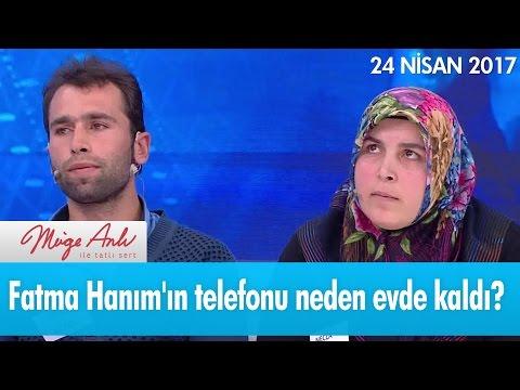 Fatma Hanım'ın telefonu neden evde kaldı? - Müge Anlı ile Tatlı Sert 24 Nisan 2017 - atv