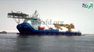 بالفيديو.. موثق قناة السويس الجديدة يكشف مفاجآت حول أكبر سفينة خدمات بترولية بالهيئة