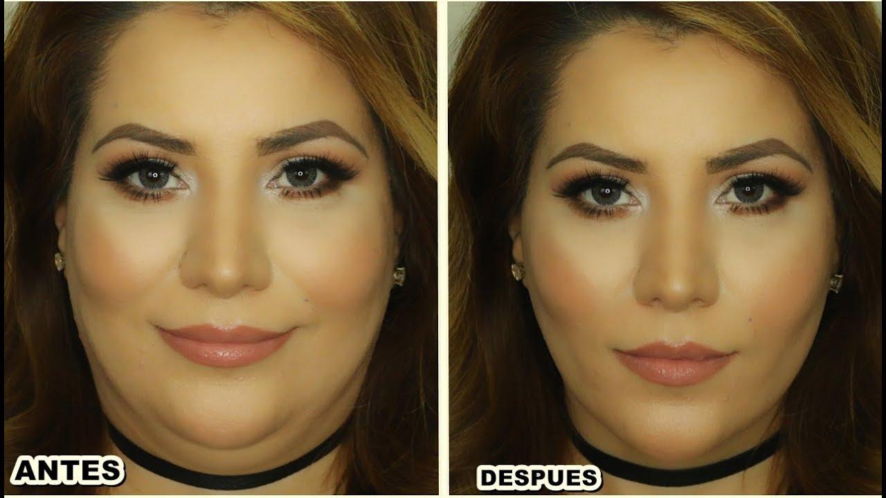 Como adelgazar la cara con maquillaje paso a paso de makeup