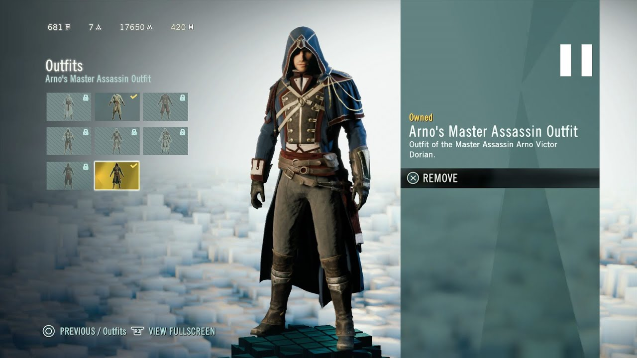 Assassin S Creed Unity Arno S Master Assassin Outfit Youtube