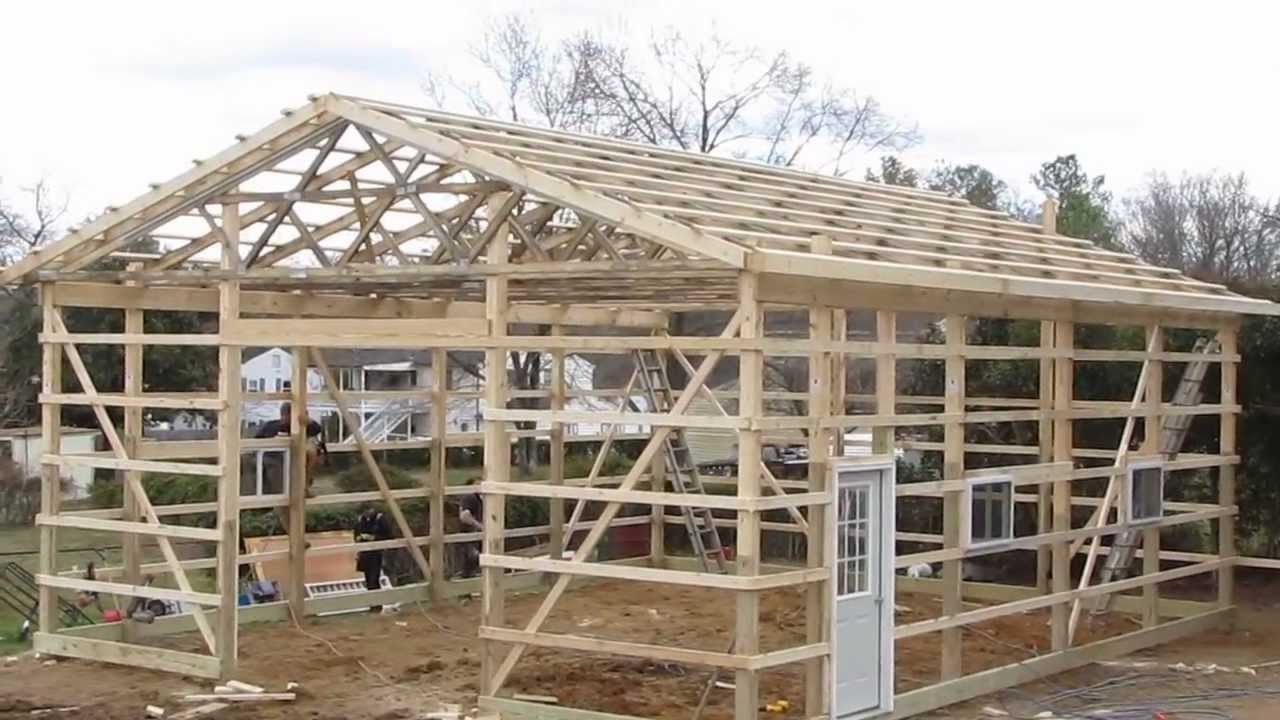 Updates new project my pole barn garage cha pole buildings for How to build pole barn house