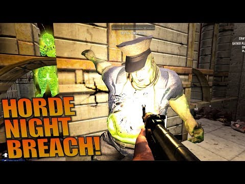HORDE NIGHT BREACH! | 7 Days to Die | Let's Play Gameplay Alpha 16 | S16.4E64