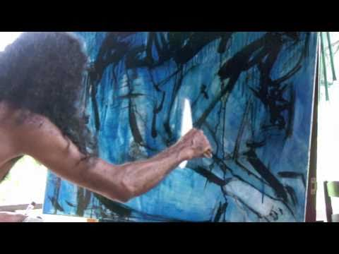 Abstract Painting Demonstration by Thai Artist - Paisun