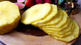 Easy Way to Cขt a Pineapple without wasting | How to Cut a Pineapple like a Pro