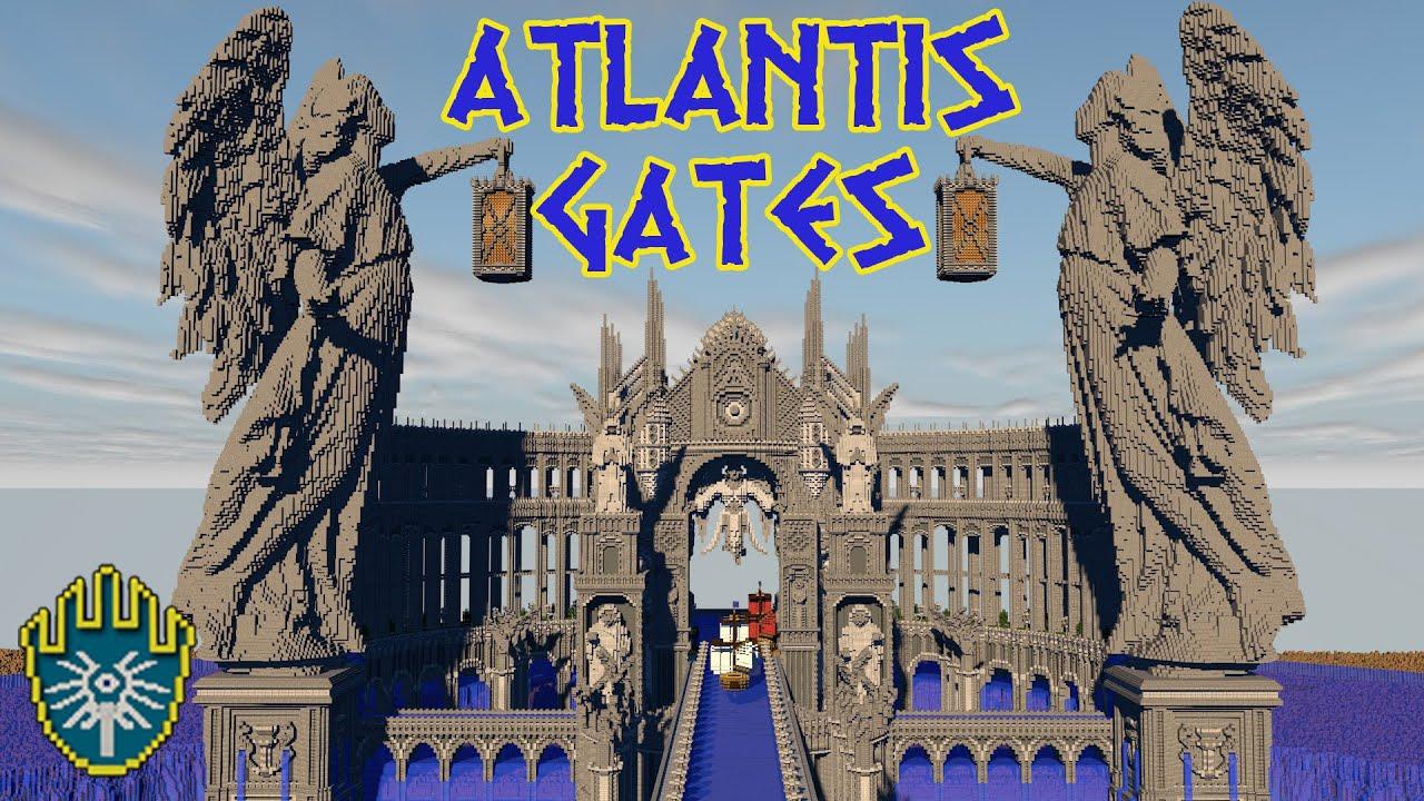 minecraft atlantis gates youtube