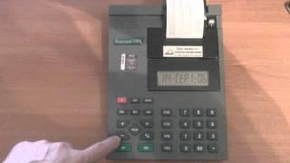 ЧПМ Меркурий 130, программирование заголовка чека
